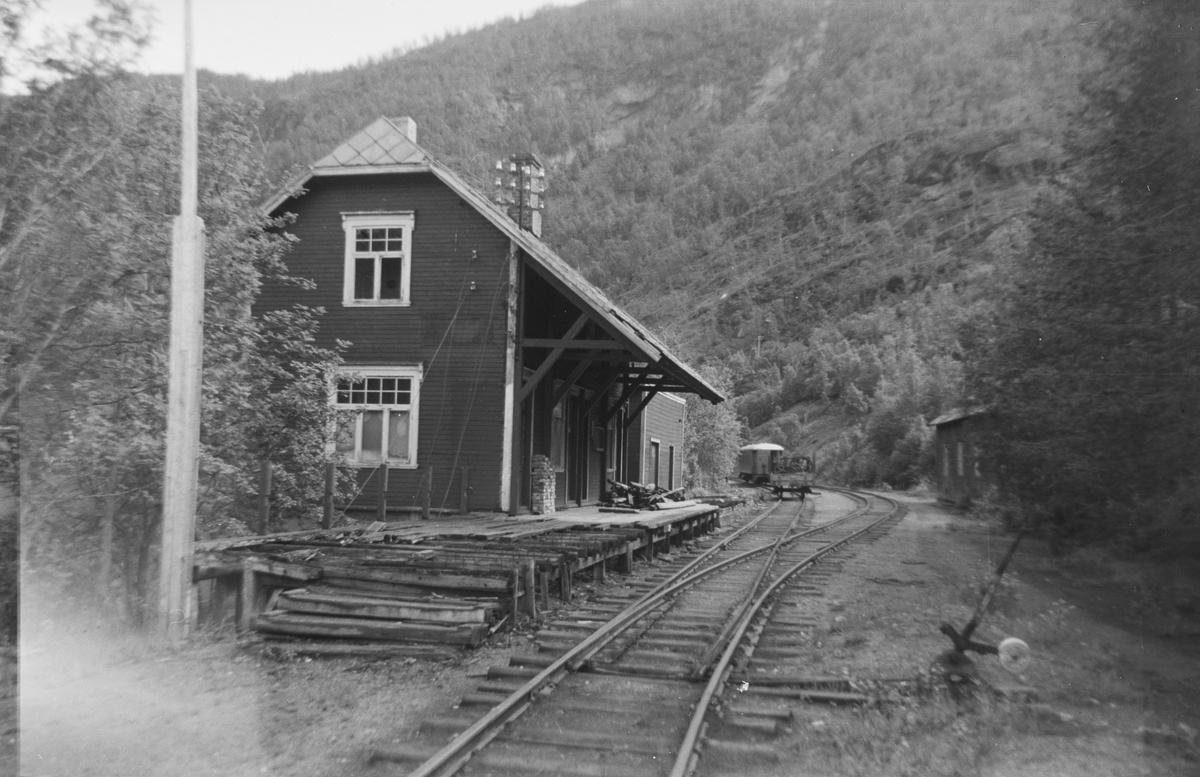 Fra Sjønstå stasjon på Sulitjelmabanen