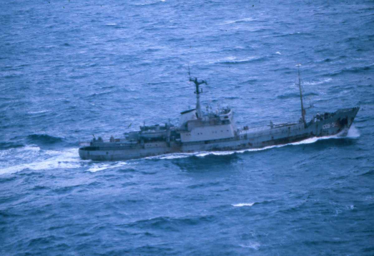 Russisk fartøy av modifisert Moma - klassen med nr. SSV 512.