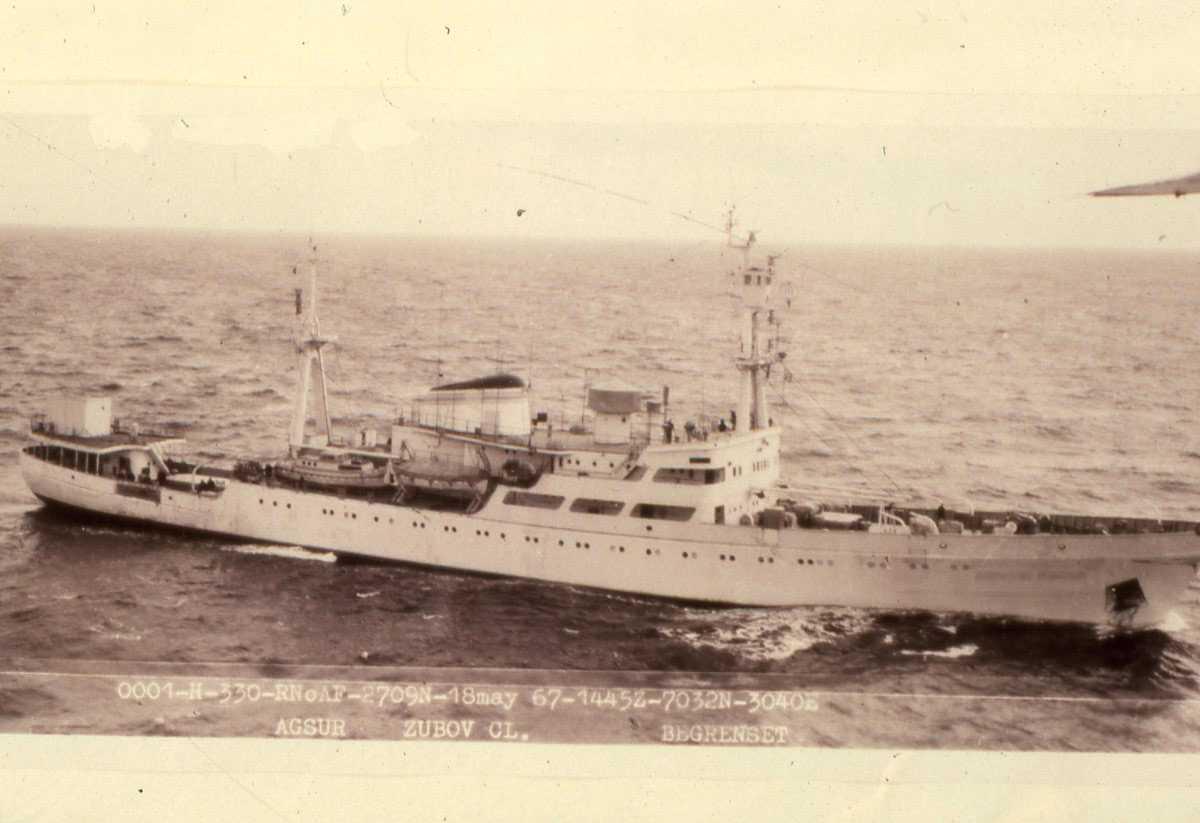 Russisk fartøy av Zubov - klassen.