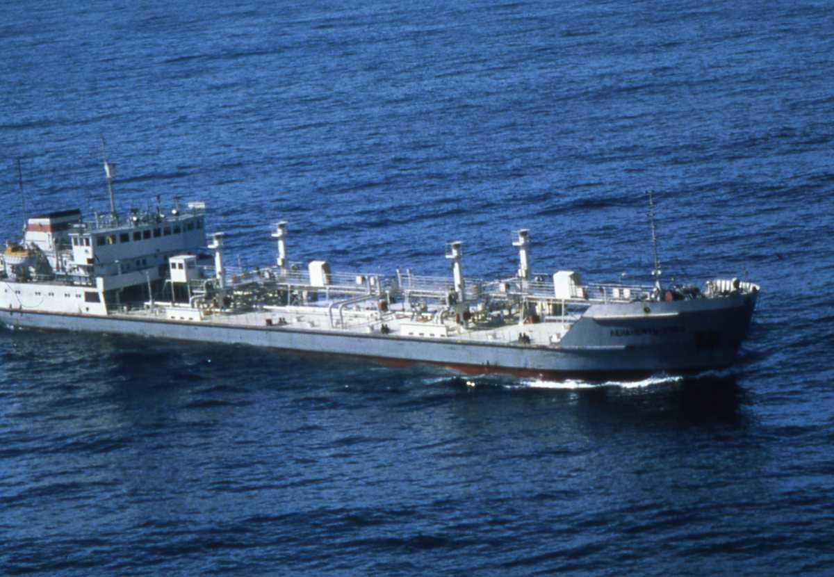 Russisk tankbåt som heter Leaneft-2054.