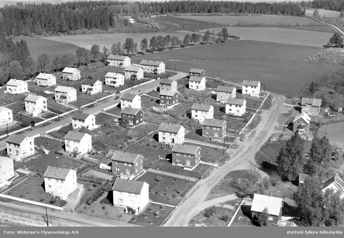Orkerød Haveby på Jeløy i Moss, flyfoto fra 1959. Orkerød Haveby.