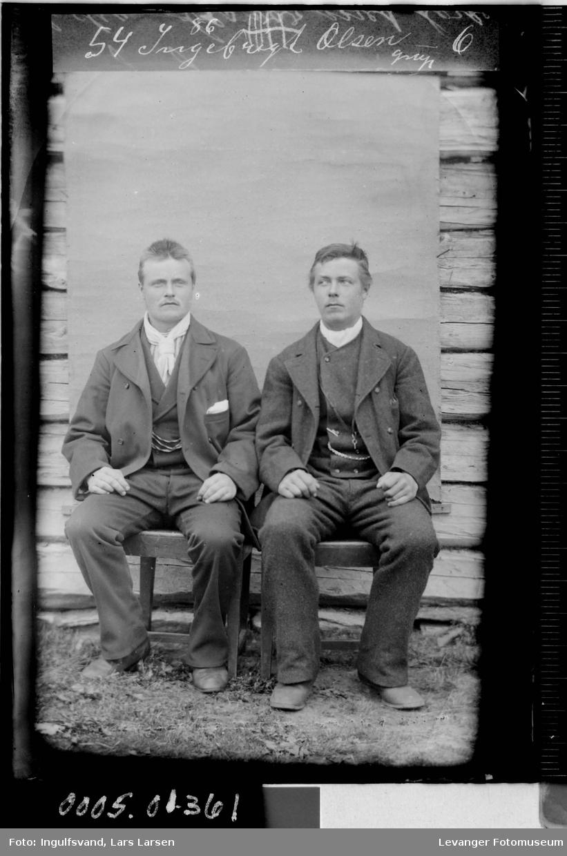 Portrett av to menn.