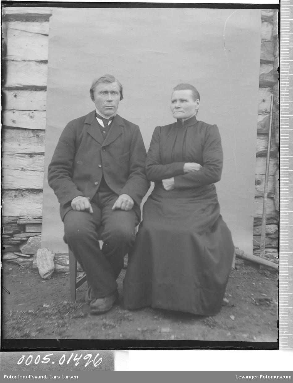 Portrett av en kvinne og en mann,