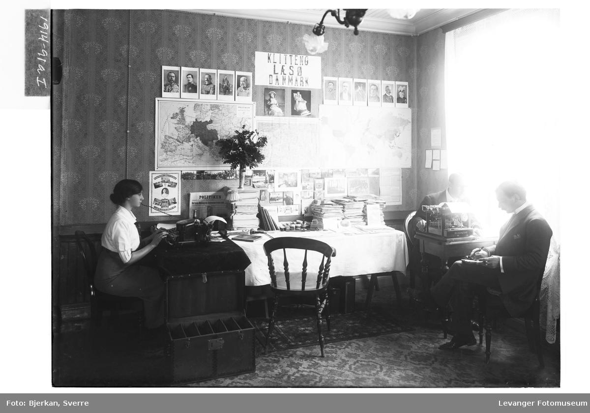 Kr. L.C. Klitteng med ukjente i Levanger