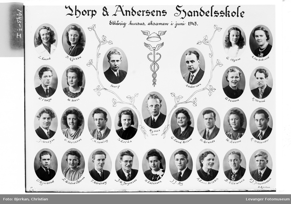 Thorp & Andersens Handelsskole, 1943