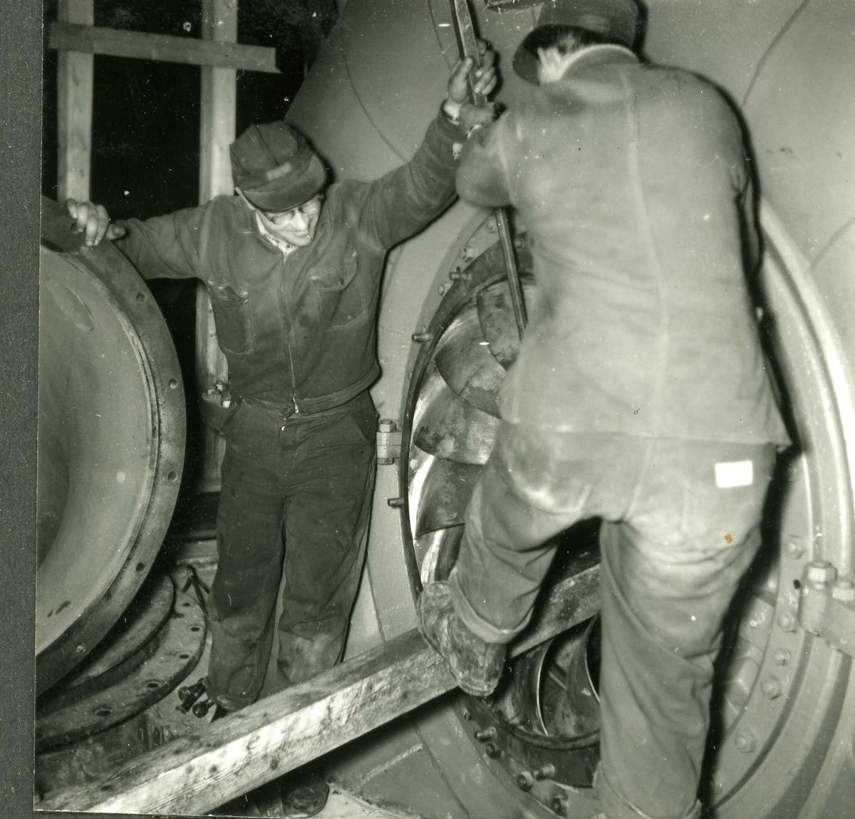 Arbeid i Hyllandsfoss kraftverk