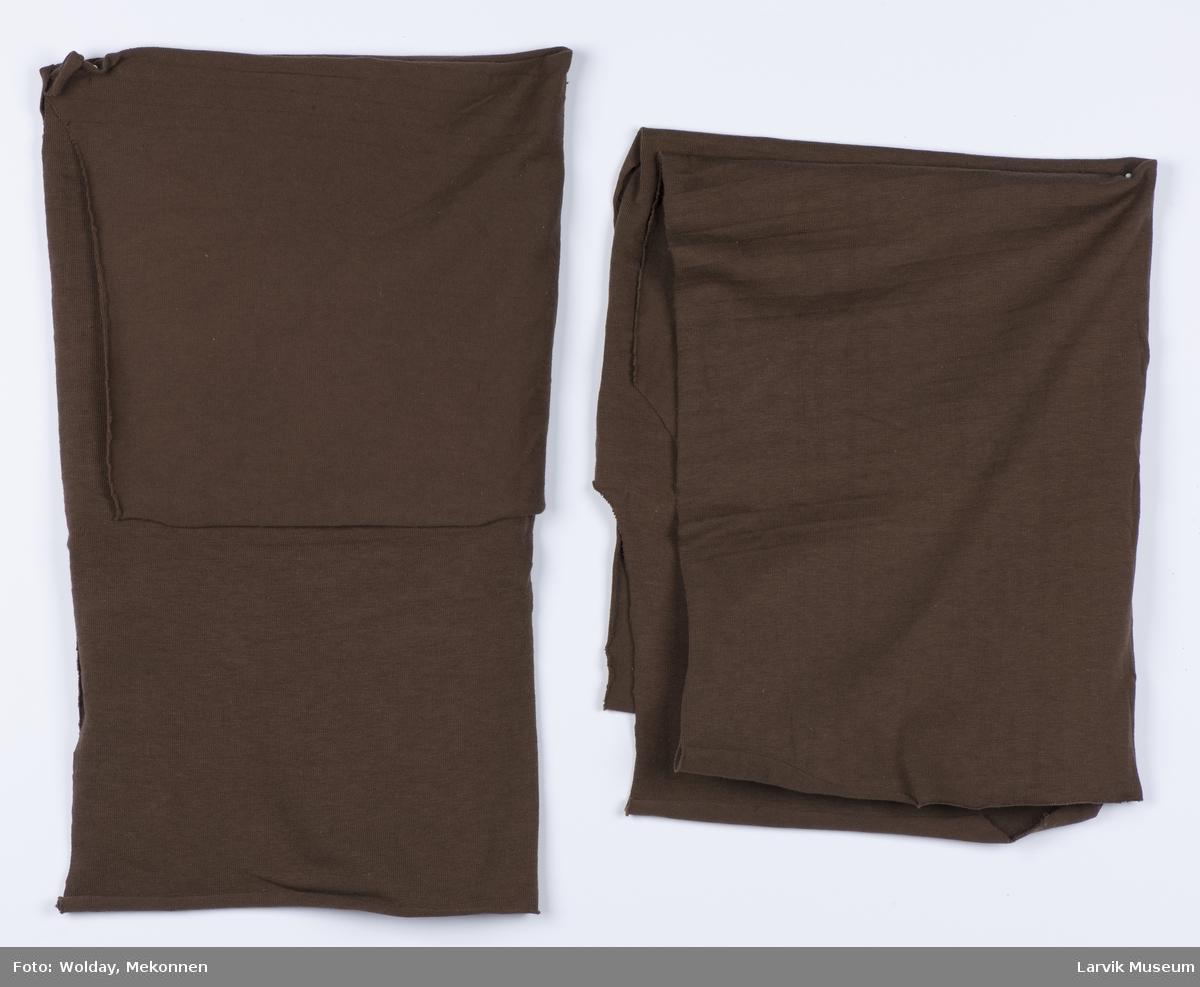 For- og bakstykke uten erme, til herre T-skjorte/trøye