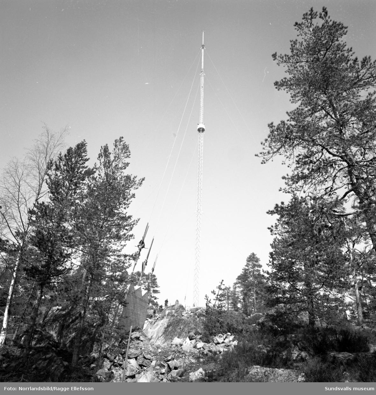 TV-masten på Södra berget, 212 meter.