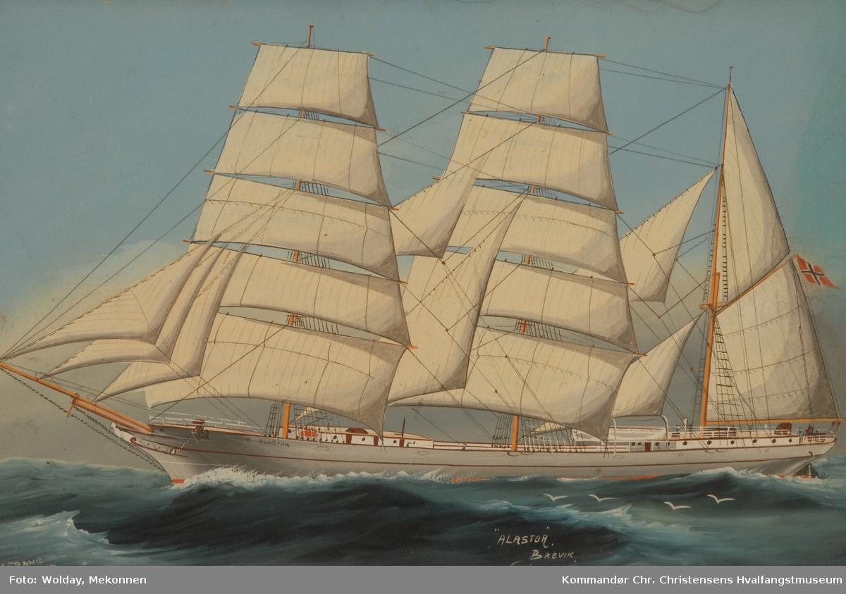 ALASTOR ex britisk s.n. Nasjon: Norsk Type: Bark Byggeår: 1875 Byggested: Sunderland, England Verft: Mounsey & Foster Byggenr: 76 Endelig skjebne: Solgt Finland 1928 s.n.