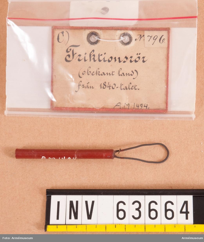 Grupp F II. Friktionsrör. 1840-tal.
