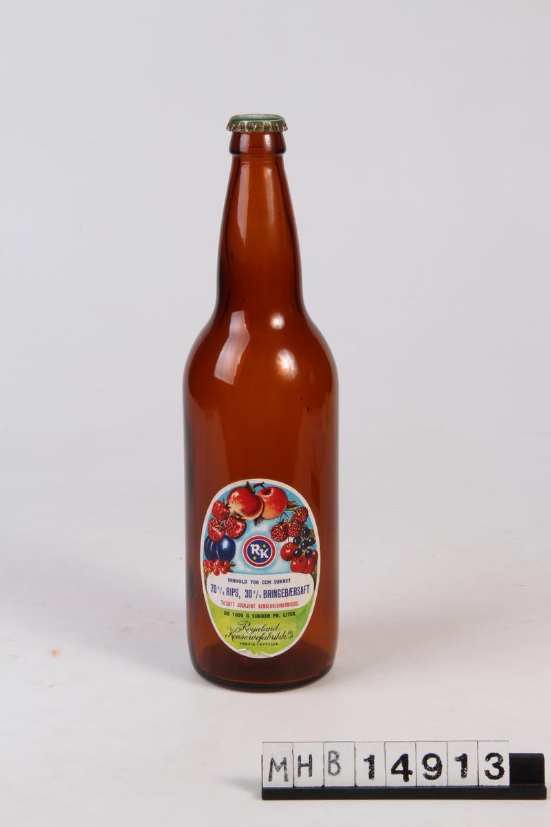 Glassflaske med trekork.