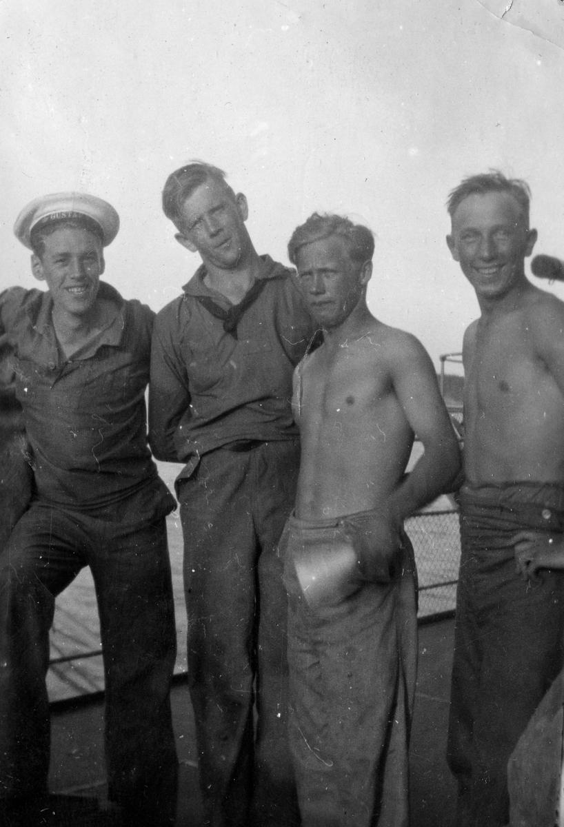 Skeppsgossekåren Minnen från 1927-30 4 Glada skeppsgossar