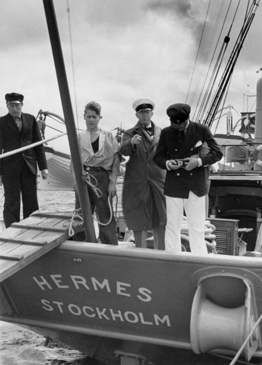 Fartyg: HERMES                         Bredd över allt 7,83 meter Längd över allt 45,17 meter  Rederi: Bergnings- och Dykeri AB Neptun Byggår: 1888 Varv: Lindholmens Verkstad Övrigt: HERMES ex METEOR