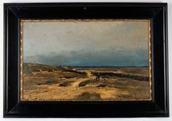 Jærlandskap [Olje på plate]