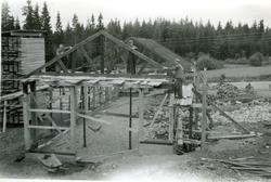 Bygge av H. Holmbergs såg.