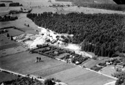 Flygfoto över Berga mekaniska sten- och bildhuggeri.