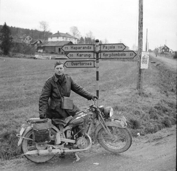 Krigsinkallad Gösta Klingberg, MC ordenans vid Pajala, Övertorneå.