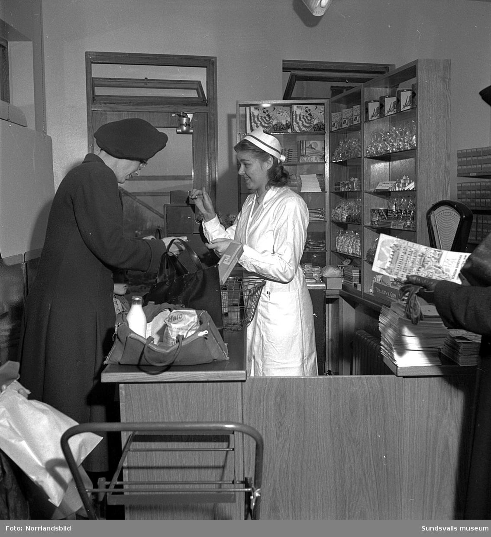 Konsumbutik på Bragegatan i Haga. Exteriör- och interiörbilder.