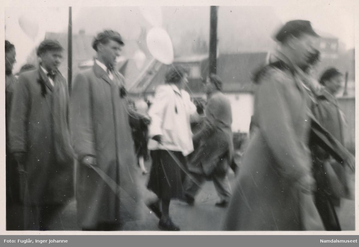 Russefeiring 1950. Namsos.