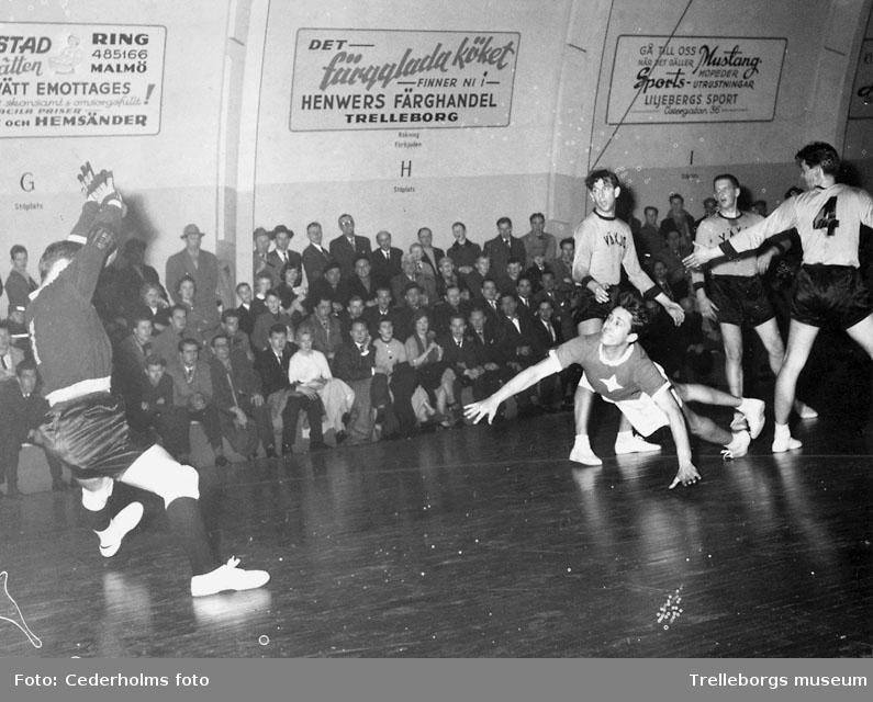 Sport handboll 1950-tal, skytten Einar Lövdahl i IFK.