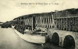 Malmkaien med S/S Sir Ernest Cassel og S/S Songa