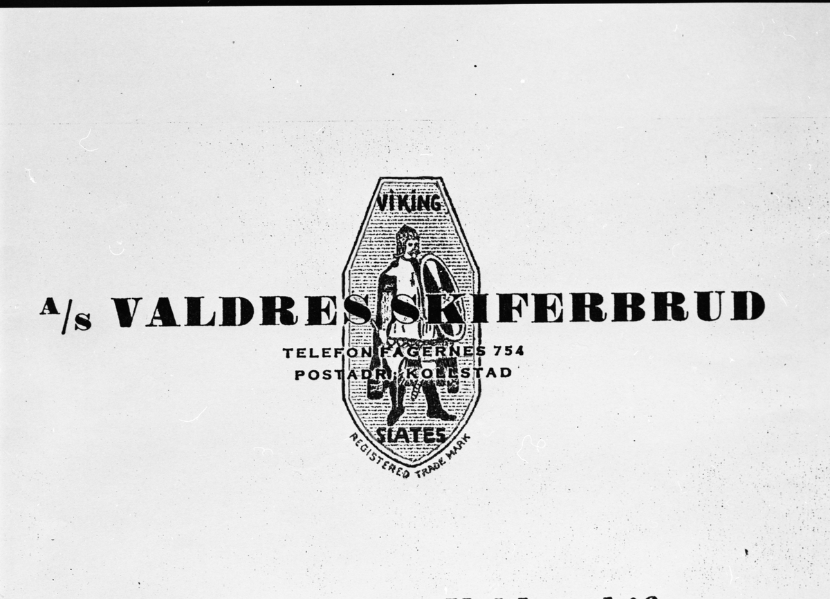 Logo til A/S Valdres skiferbrud.