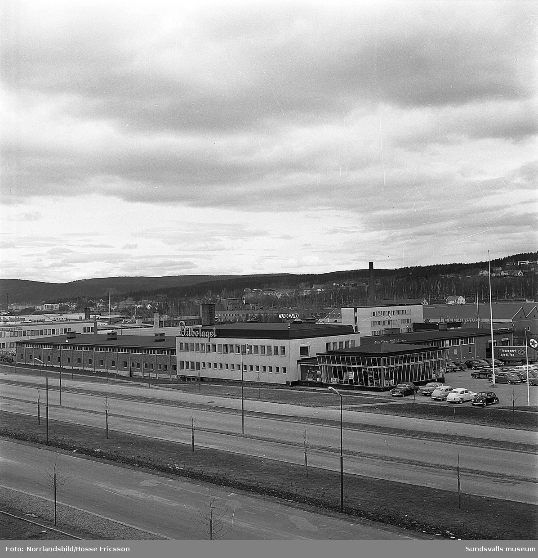 Bilbolagets anläggning vid Bultgatan i Nacksta.