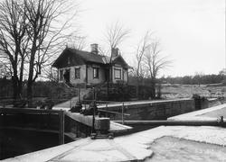 Ombyggnad av Trollhätte kanal, Trollhättan. Gamla slussen vi