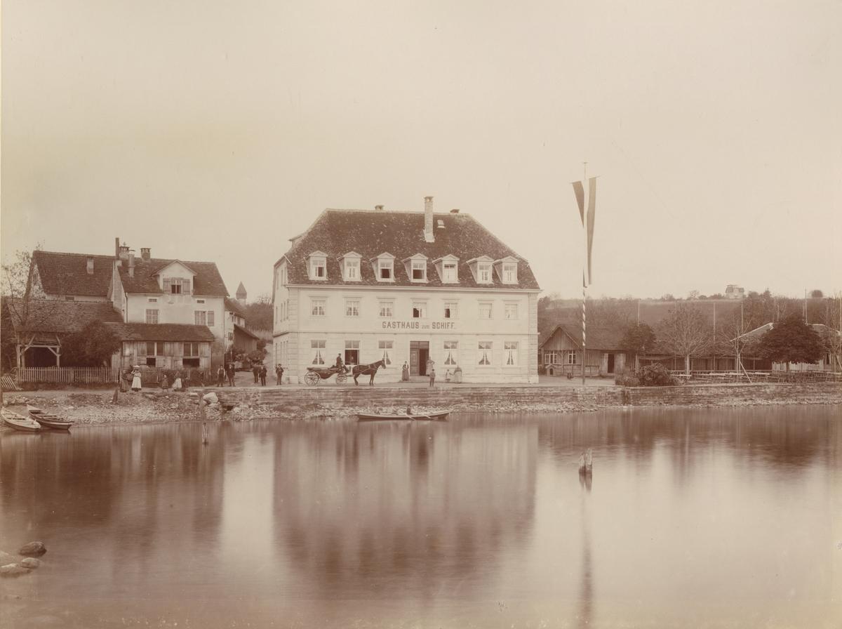 Ur album: Utländska Resan 1900 I. Gästhus, Gasthaus zum Schiff vid Bodensjön.