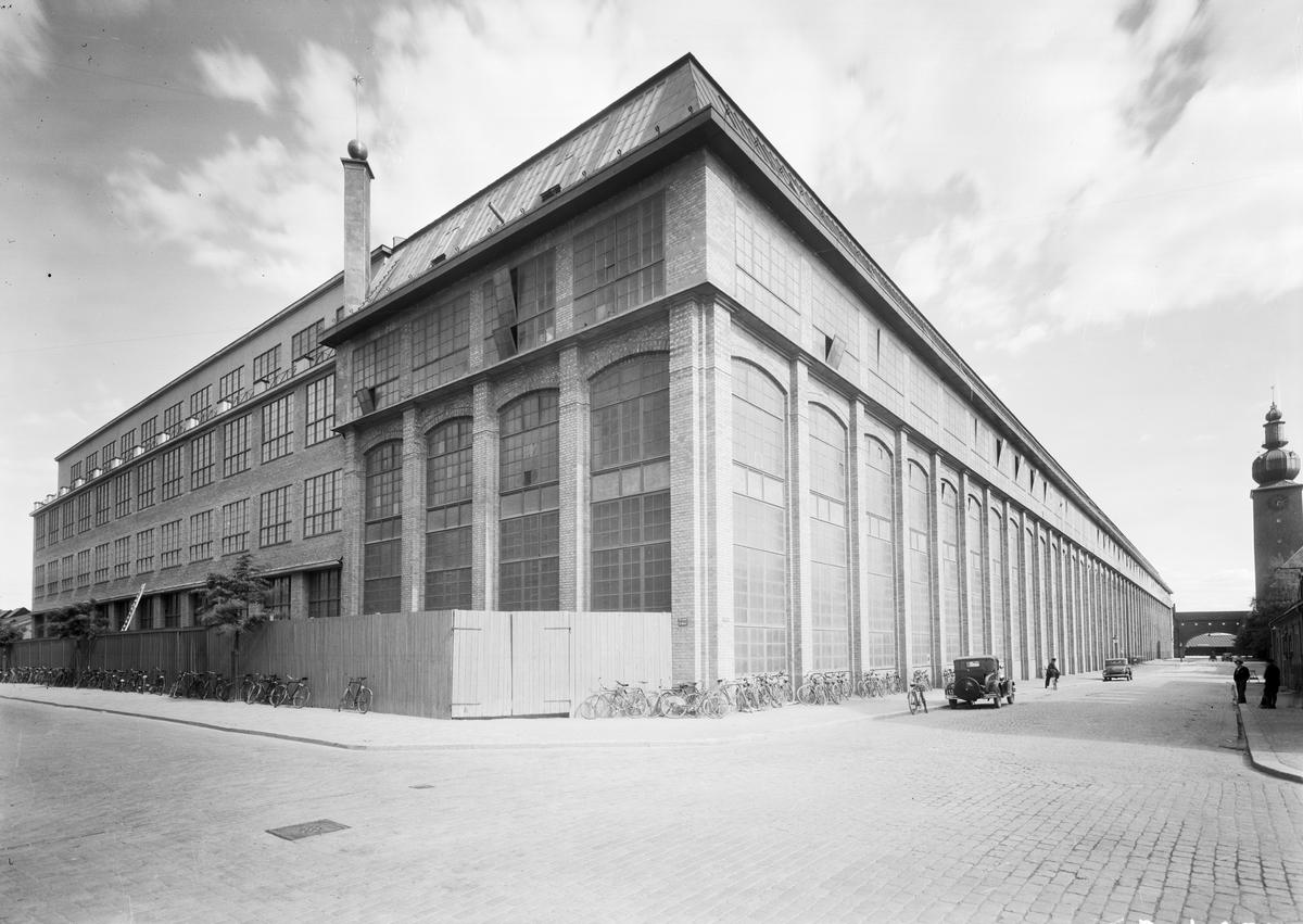 Exteriör av ASEA-fabriken i Västerås. Verktygsavdelningen.