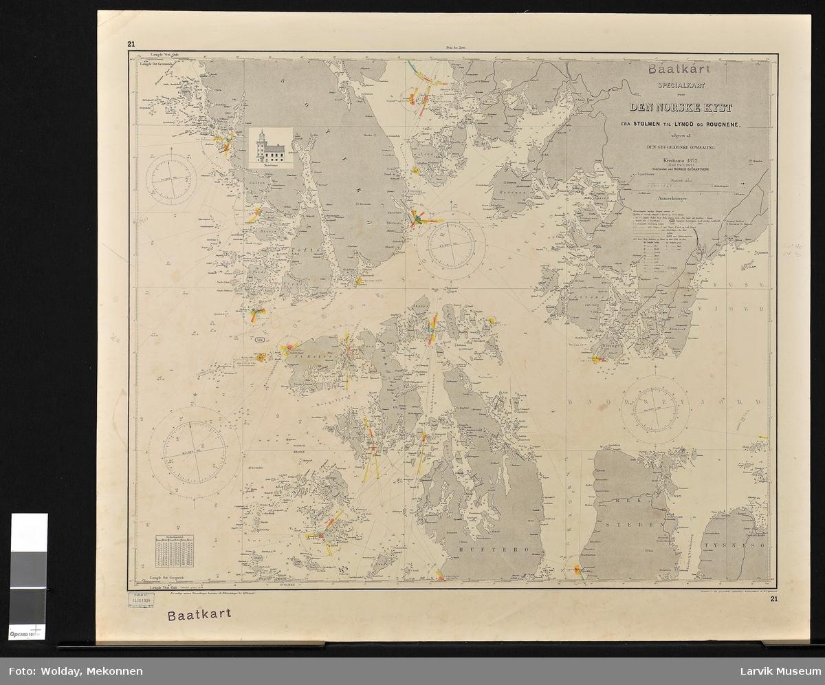 Den norske kyst fra Stolmen til Lyngø og Rougnene Sotra Norge