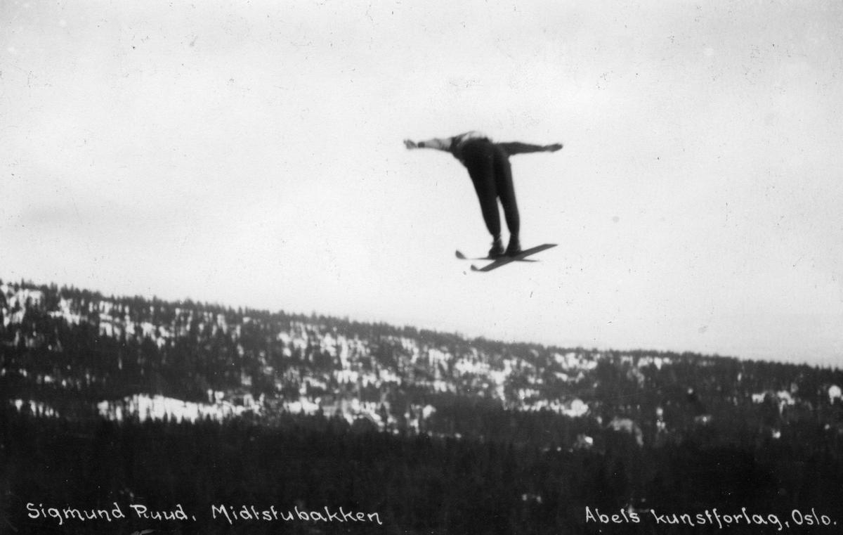 Ski jumper Sigmund Ruud at Midtsubakken