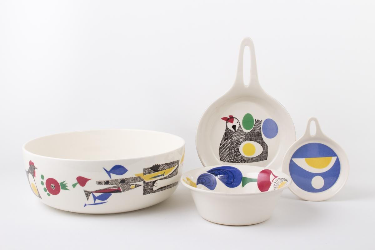 a9fc6414 Ulike motiv - stilisert okse, høne, grønnsaker, egg