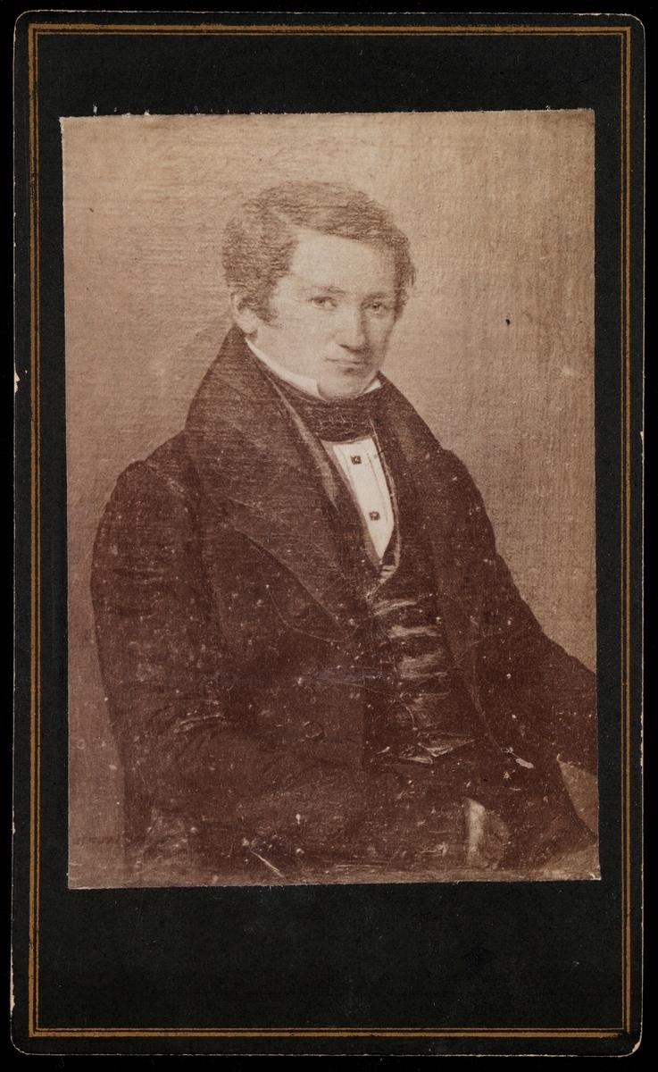 Fotografi av et portrettmaleri av Haaken Christian Mathiesen som ung mann