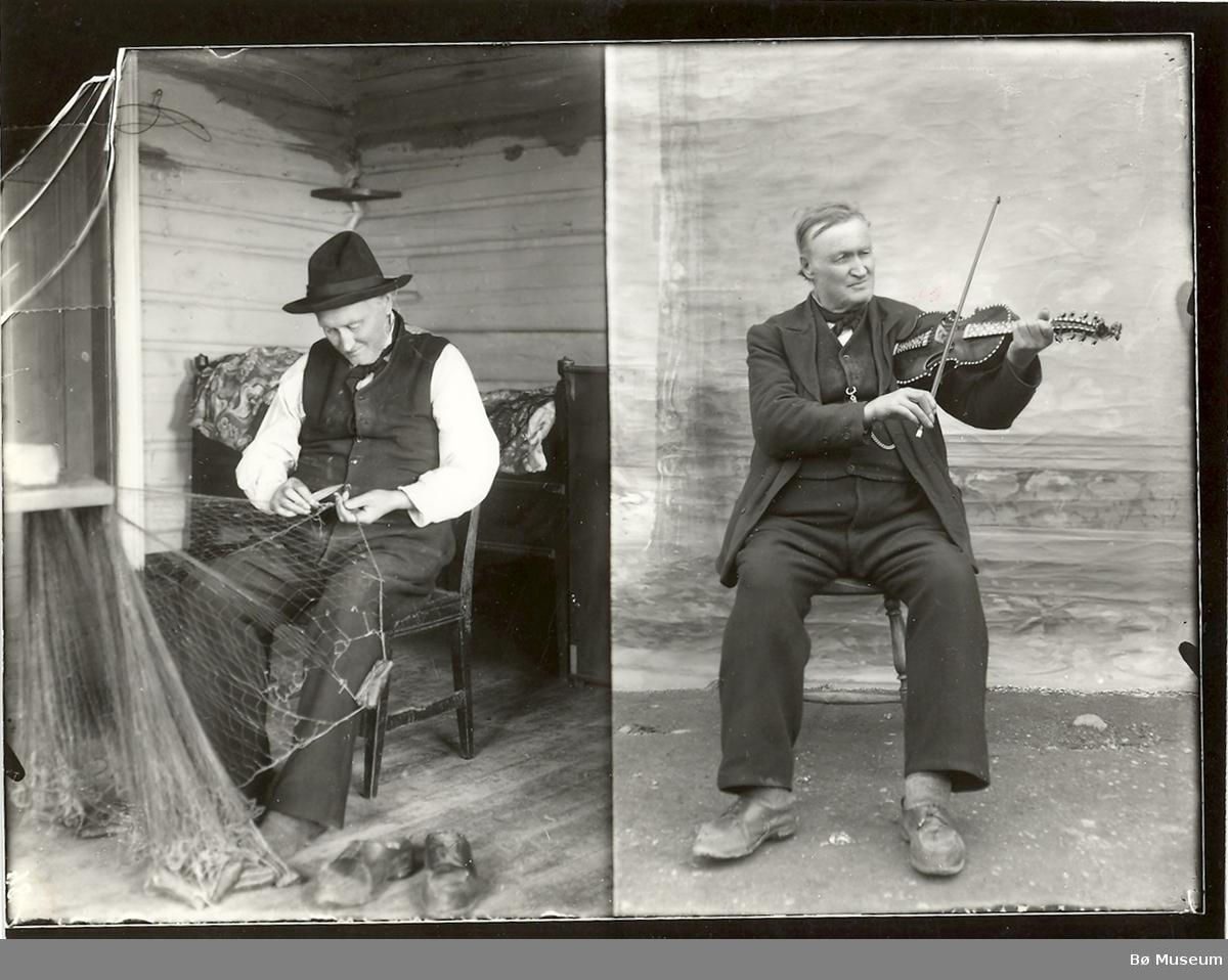 Begge bileta er av Ola Halvorson Lein frå Hol i Hallingdal. Desse finnest også i Hol bygdearkiv.