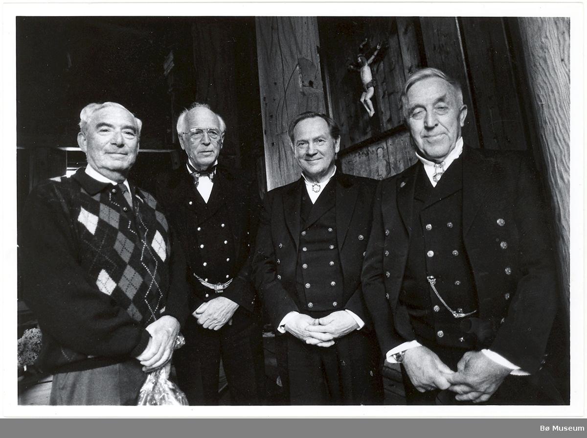 F.v. Jo Benkow, Jens Myro, Hauk Buen, Olav Øyaland. 1980 åra