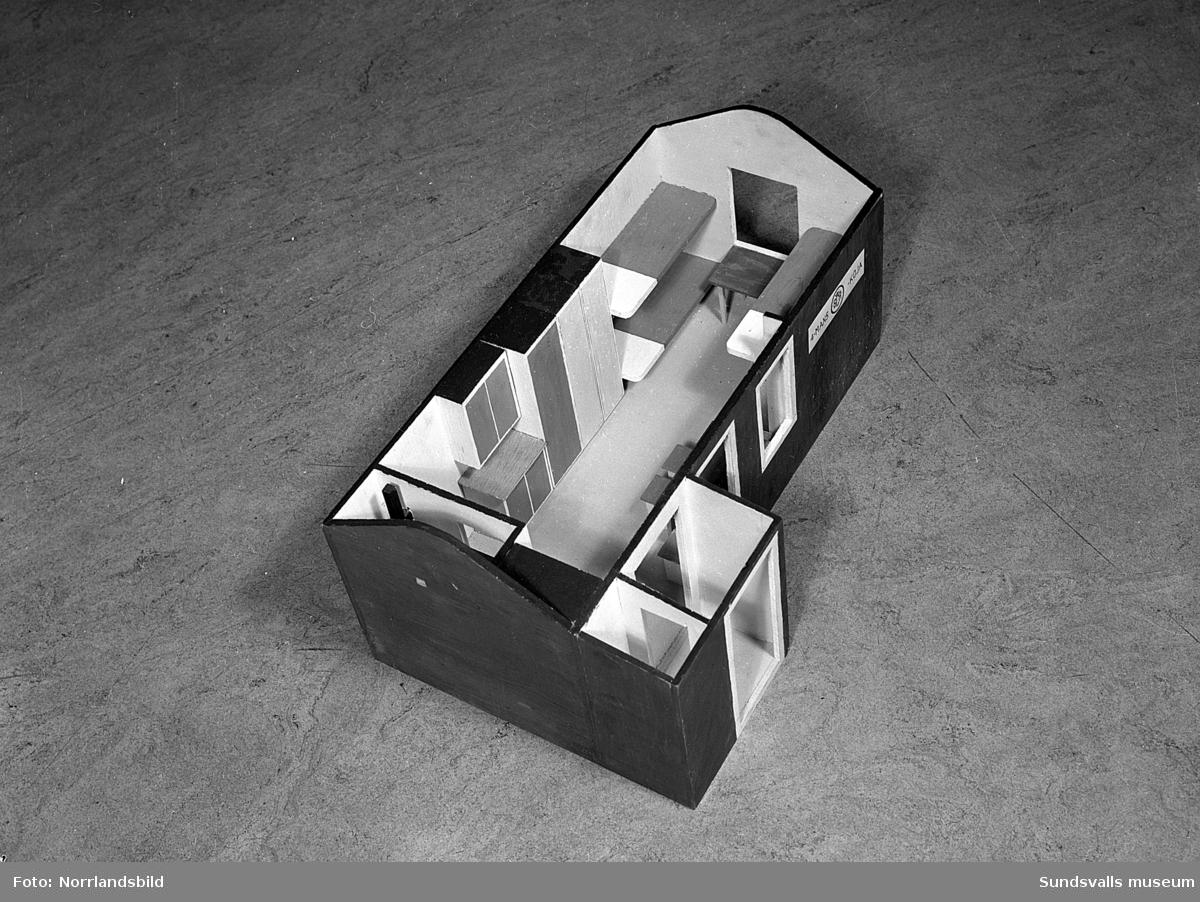 Modell av skogskojor, SCA.