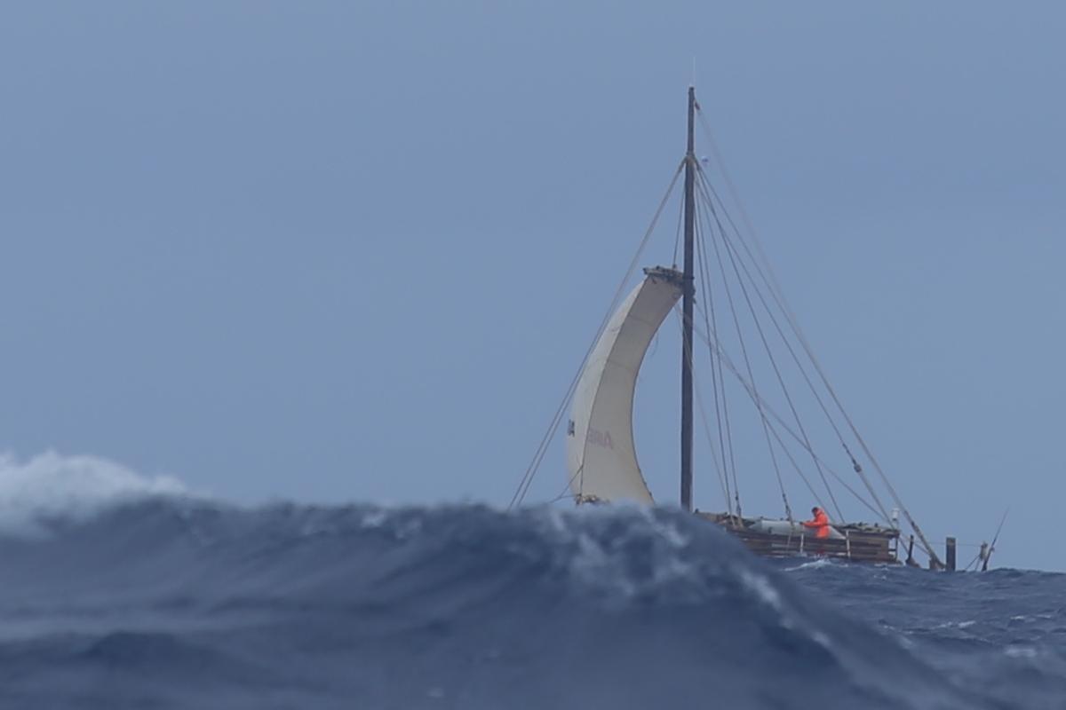 Flåten Rahiti Tane. Foto: KonTiki2-ekspedisjonen.
