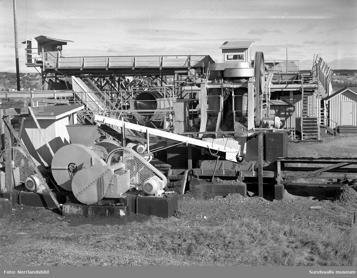 Barktrumman vid Tunadals sågverk.