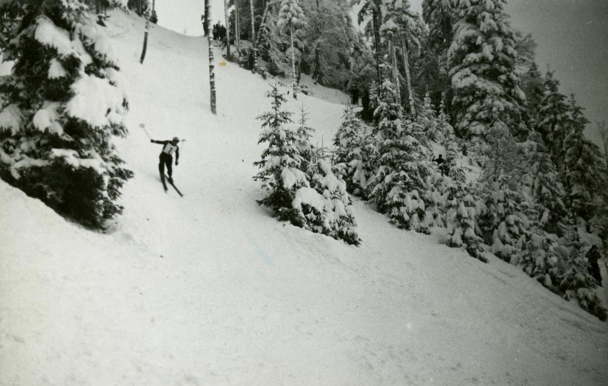 Downhill racer Birger Ruud at Garmisch