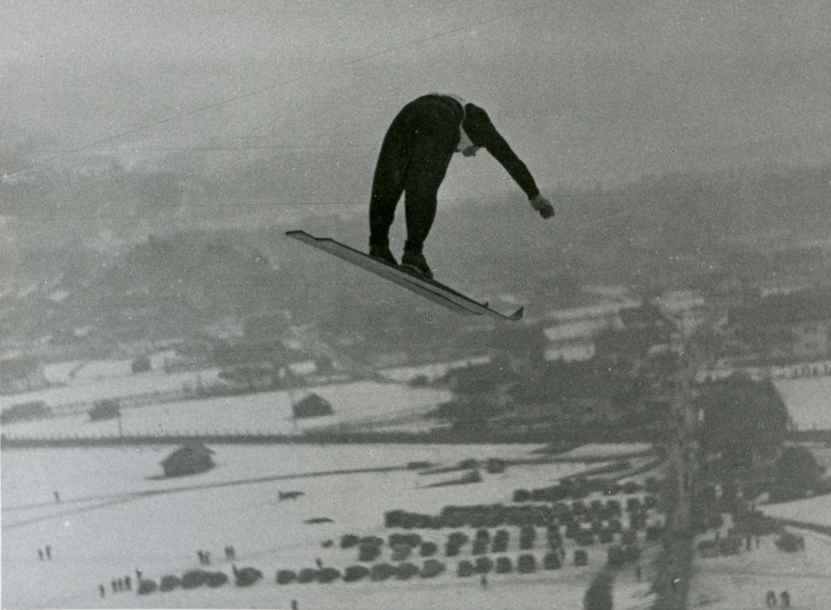 Kongsberg athlete Birger Ruud at Garmisch