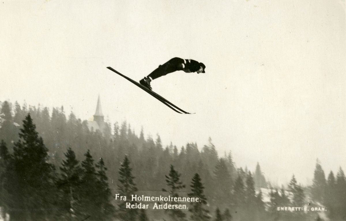 Athlete Reidar Andersen at Holmenkollen