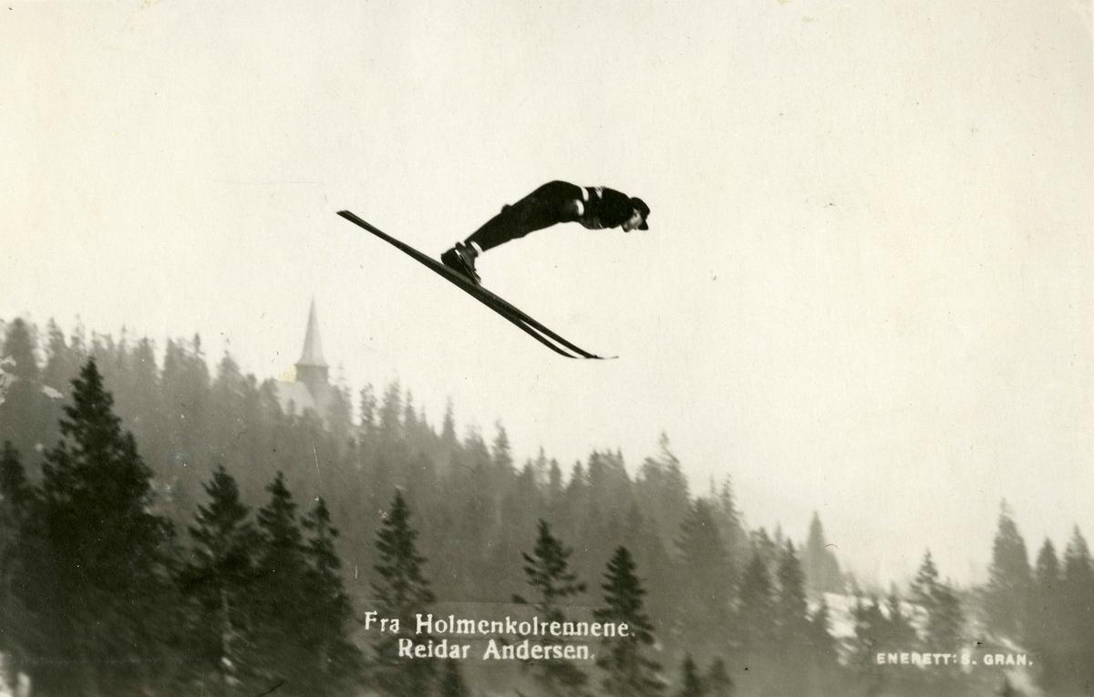 Athlete Reidar Andersen at Holmenkollen