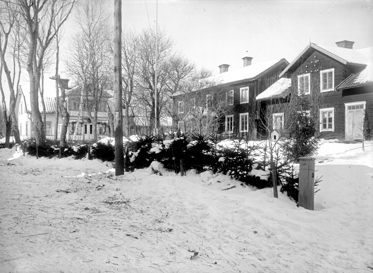 Nyvlastugan - nu på friluftsmuseet Disagården - på ursprunglig plats i Nyvla, Bälinge socken, Uppland