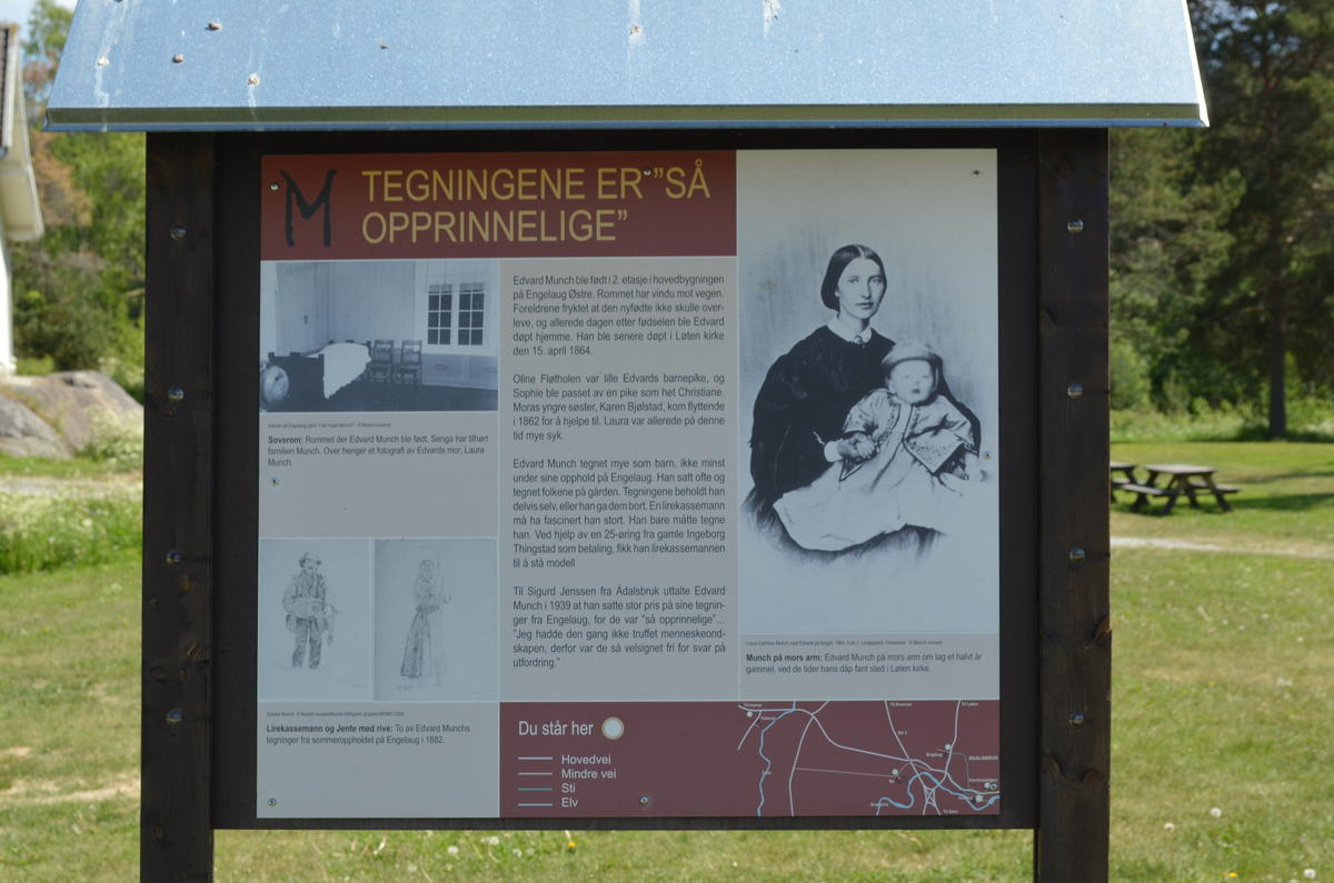 Infotavla på Klevfos. (Foto/Photo)