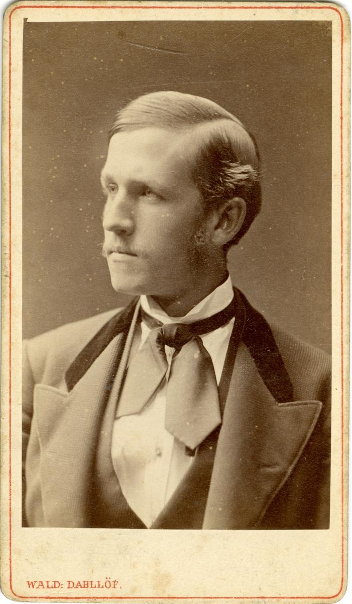 Porträtt av Axel Vilhelm Andersson Hagander, officer vid Wendes artilleriregemente A 3.