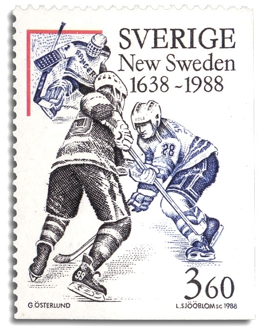Svensk ishockeyspelare i NHL: T Sandström.
