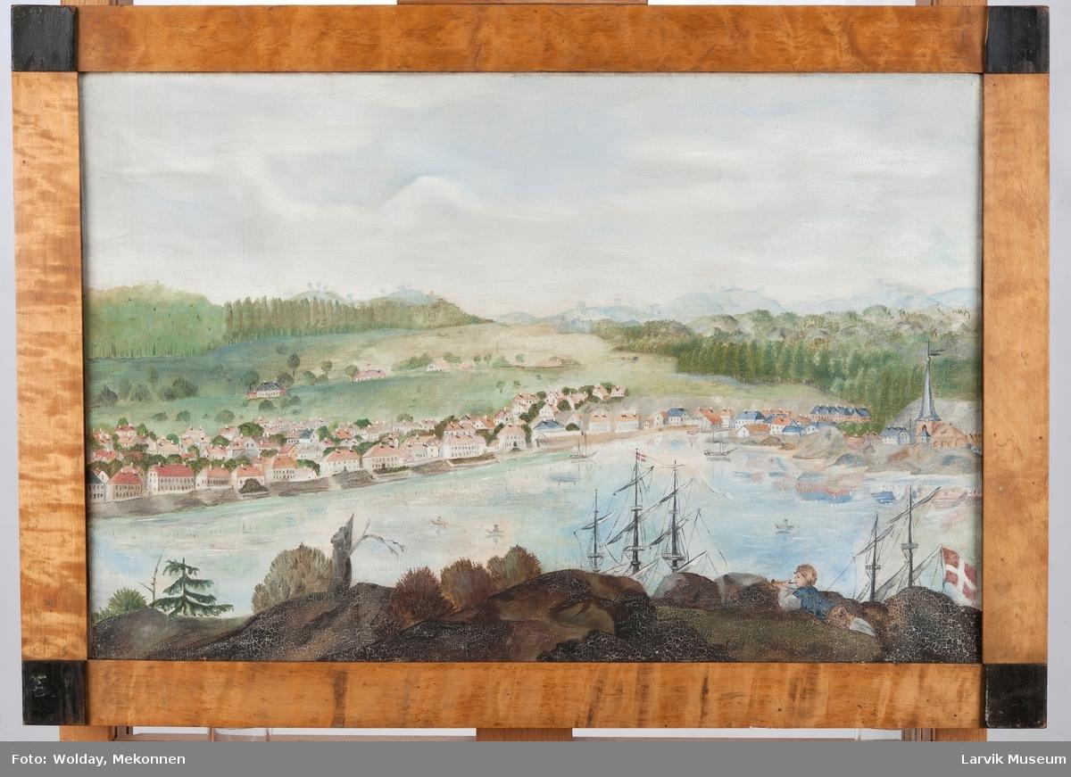 Larvik - havnen og byen