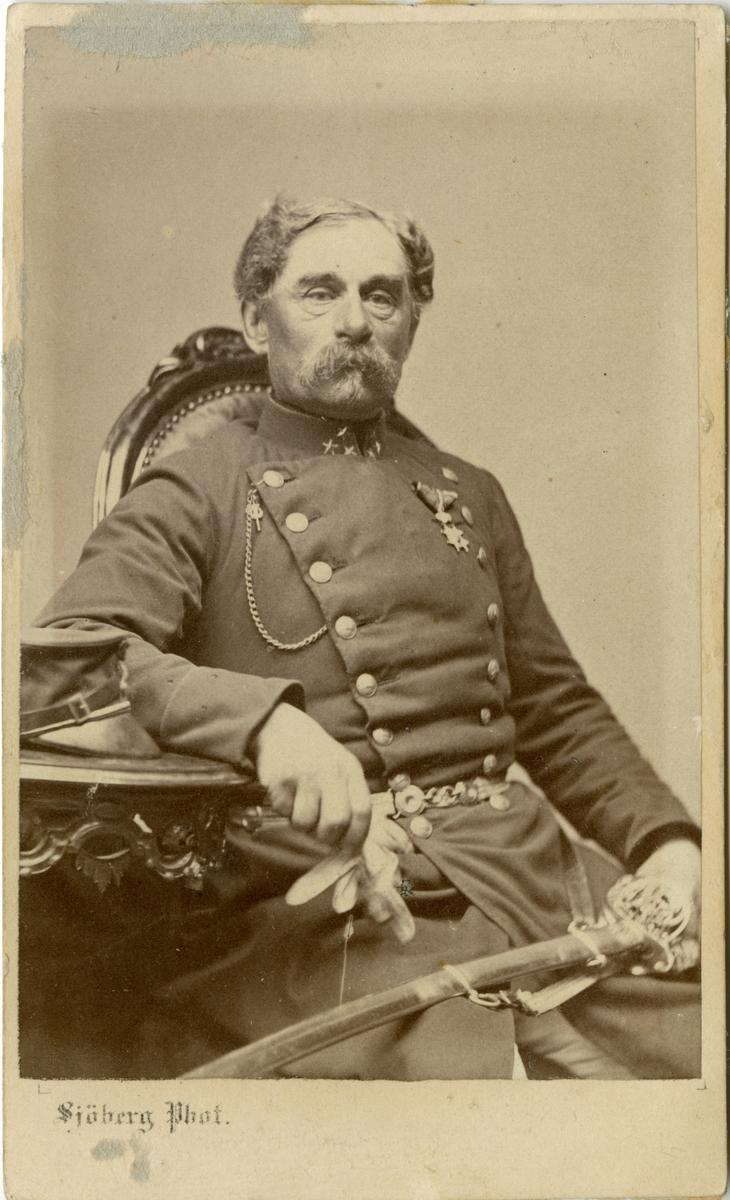 Porträtt av Grave Hülphers, kapten vid Hälsigne regemente I 14.