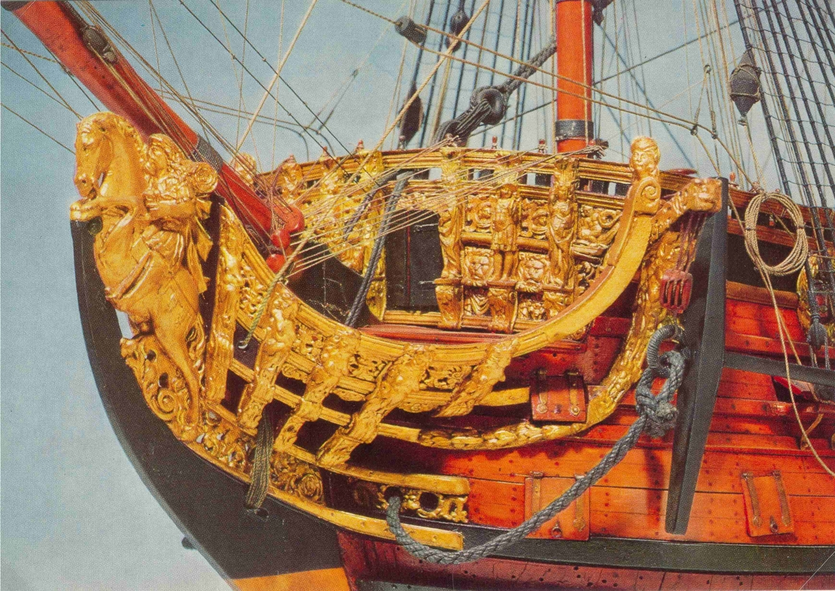 HMS Prince sjösattes 1670 vid Chatham.  Hon var ett 100 kanoners fartyg och var rikt utsmyckad med ornament speciellt i  fören. Prince deltog i slaget vid Solebay där holländarna förlorade, hon blev dock hårt åtgången. Prince skrotades 1692 men en del av virket användes för att bygga Royal William.